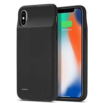 cheap for discount 5306b 1a43f iPhone X Battery Case DING DING 3200 mAh Protective Charging Case for  iPhone X External Battery Charger Case Support Lightning Headphone …