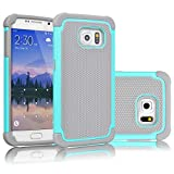 Best Galaxy S6 Cases - Galaxy S6 Case, Tekcoo(TM) [Tmajor Series] [Turquoise/Grey] Shock Review