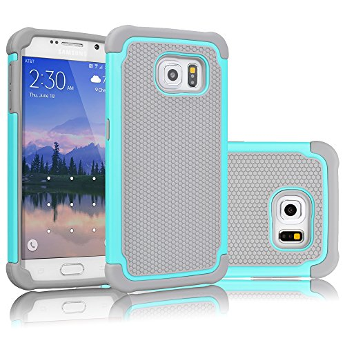 Galaxy S6 Case, Tekcoo(TM) [Tmajor Series] [Turquoise/Grey] Shock Absorbing Hybrid Rubber Plastic Impact Defender Rugged Slim Hard Case Cover Shell For Samsung Galaxy S6 S VI G9200 GS6 All - Tiffany A Good Brand Is