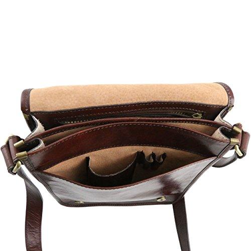 Tuscany Leather - Sac porté épaule cuir - Marron