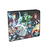 Buckle Down Kids' Marvel Multi Character Avengers Bilfold Wallet, Avengers
