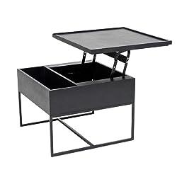 YNN Table Basse relevable Table d'appoint en chêne Noir Accueil/Table Basse de Rangement élévatrice Multifonction/Lifting Edge