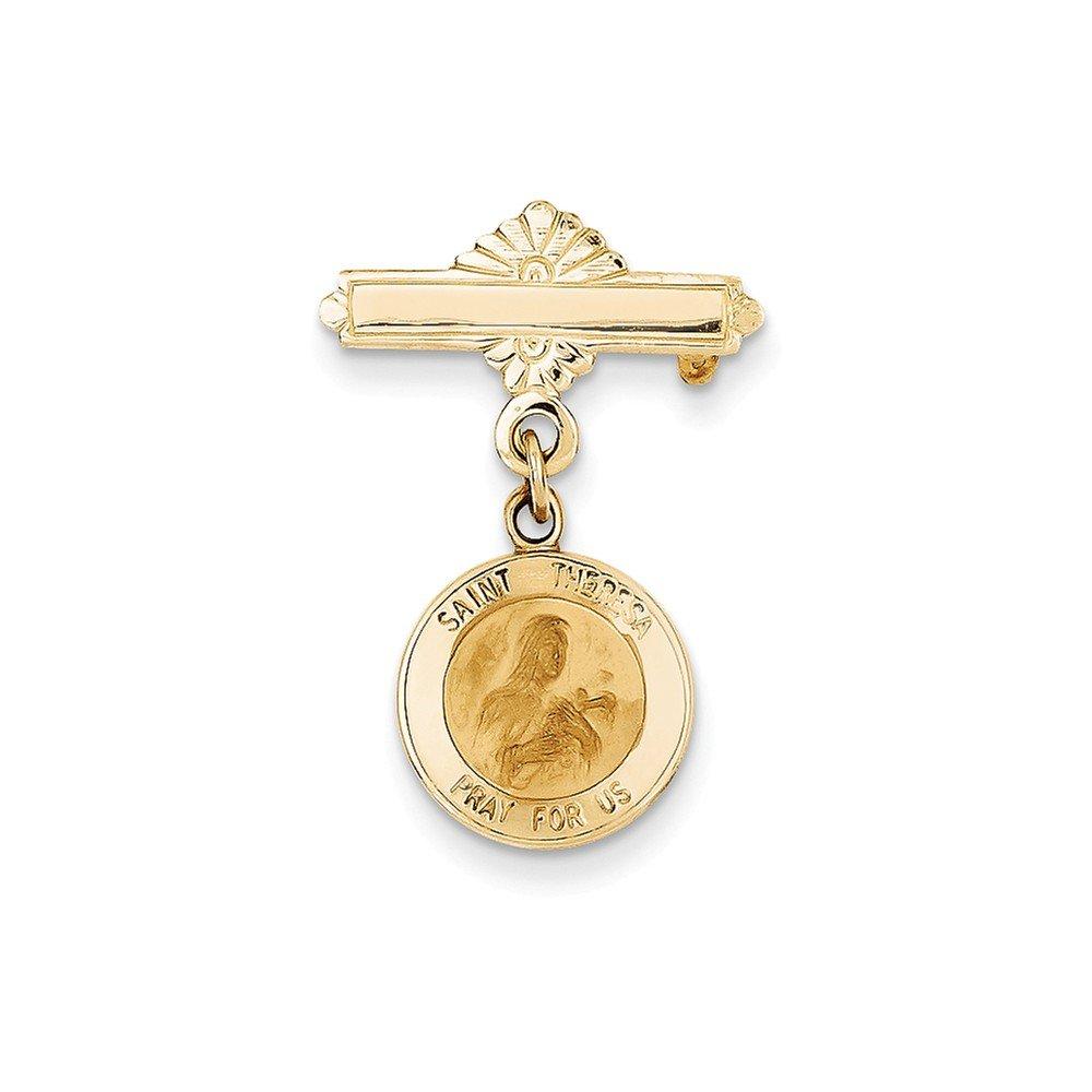 Perfect Jewelry Gift 14k Saint Theresa Medal Pin