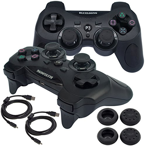 BlueLoong Wireless Double Vibration Controller For PS3 Bl...