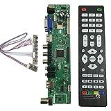 V56 Universal LCD TV Controller Driver Board PC/VGA/HDMI/USB Interface+7 Key Board