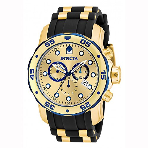 Invicta Men's 17887 Pro Diver Blue-Accented and 18k Gold Ion-Plated Stainless Steel Watch by Invicta