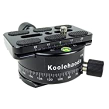 Koolehaoda Panoramic Head Professional Camera Tripod Panoramic Head Holder Universal Quick Release Plate