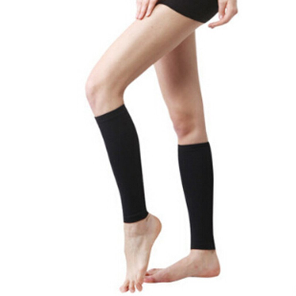 TraveT 1 Pair Calf Elastic Stockings Compression Sleeves for Women and Runners Running, Cycling, Travel, Black
