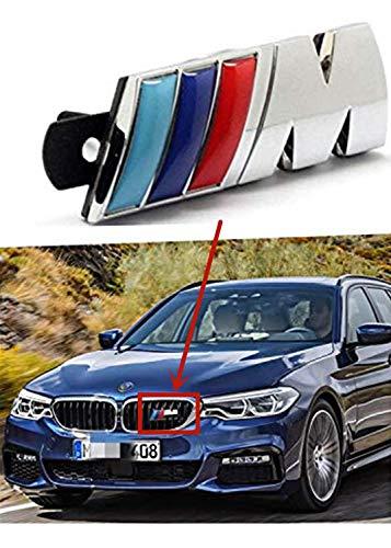 M Power Car Front Grill Badge Logo Emblem for M M3 M5 X1 X3 X5 X6 E30 E34 E36 E39 E46 E60 E90 E92 (M Power Grill Emblem)