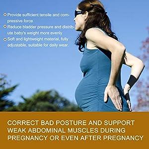 01 02 015 Pregnancy Belly Band, Practical Safe Convenient Adjustable Maternity Belt, Hospital for Pregnant Women General…
