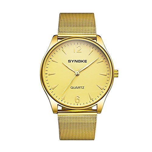 856store Big Promotion Business - Reloj de Pulsera analógico de Cuarzo con Correa de aleación de Aluminio para Hombres,...