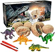 Dinosaur Toys, Dino Egg Dig Kit Kids Gifts - Break Open 12 Unique Dinosaur Eggs and Discover 12 Cute Dinosaurs