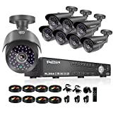 Cheap TMEZON NEW 16CH 1080N AHD Video DVR Security System 8 AHD 720P 130ft Super Night Vision 42 IR LEDs Indoor/Outdoor Security Camera Transmit Range P2P/QR Code Scan Easy Setup