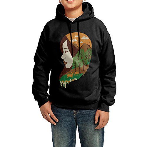 AISTEWU Youth Girl And Nature Sports-Inspired Sweatshirt Hooded - Children Meg Ryans