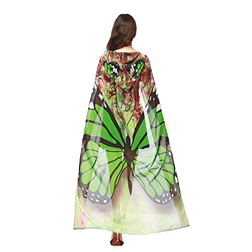 (WOCACHI Vanlentine Day Halloween Costume Peacock Hooded Scarves, Women Cloak Cape Poncho Party Show 2019 Spring Under 5)
