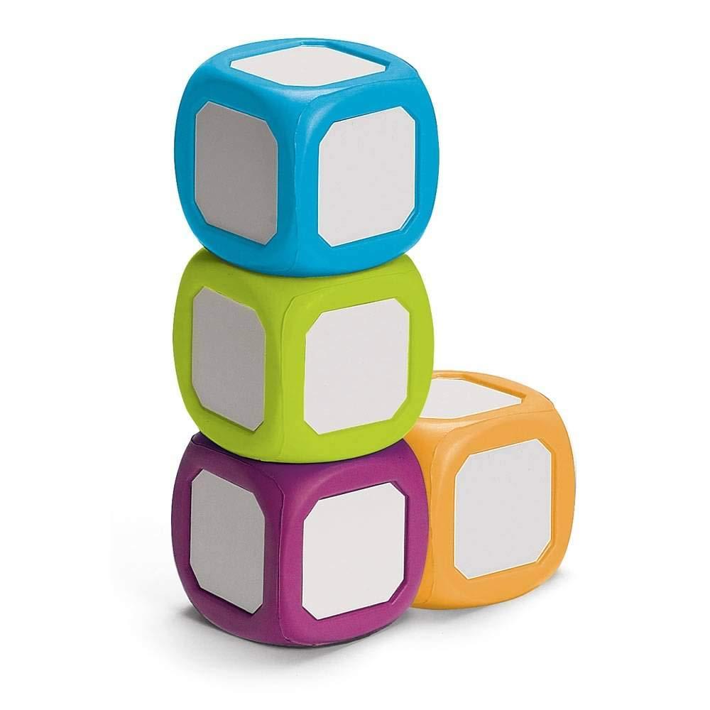 hand2mind Foam Blocks, 2 Inch Write-On/Wipe-Off Dry Erase Dice (Set of 4)