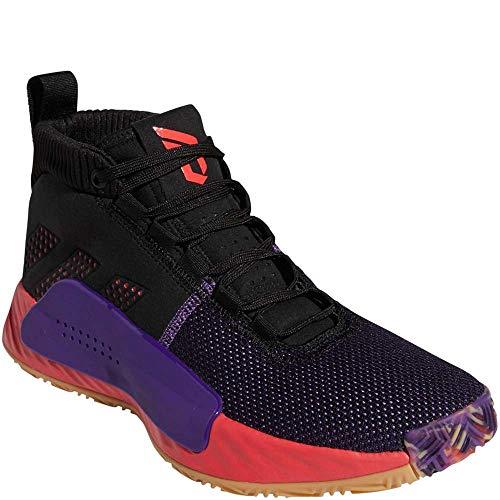 adidas Men's Dame 5, Black/Shock red/Active...
