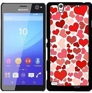Funda para Sony Xperia C4 - Modelo Rojo Del Corazón by Grab My Art