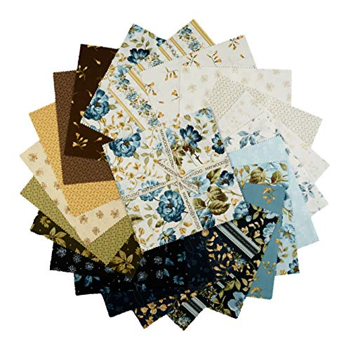- Maywood Studio 10'' Squares English Countryside Precut (42 Piece) Fabric, Multicolor