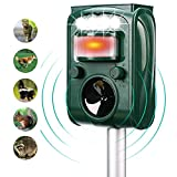 FAYINWBO solar outdoor animal repeller, motion activated alarm and flash, expel raccoon, rabbit, birds, squirrels, cats, dogs, etc. Protected courtyard, lawn and garden