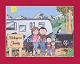 Pull Trailer Camping Family Gift Personalized Custom Cartoon Print 8x10, 9x12 Magnet or Keychain