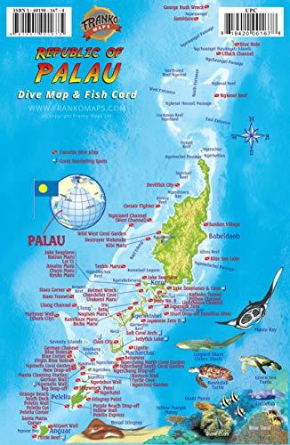 Palau Dive Map & Reef Creatures Guide Franko Maps Laminated Fish Card