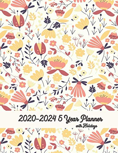 5 Year Planner 2020-2024 With Holidays 8x11: 5 Year Basic Planner Calendar To Help Organize Yourself For Self-Esteem, Growth, Time Management and Productivity ()