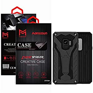 Margoun Shockproof Tough Hybrid Armor Case Compatible for Samsung Galaxy S9 - Black