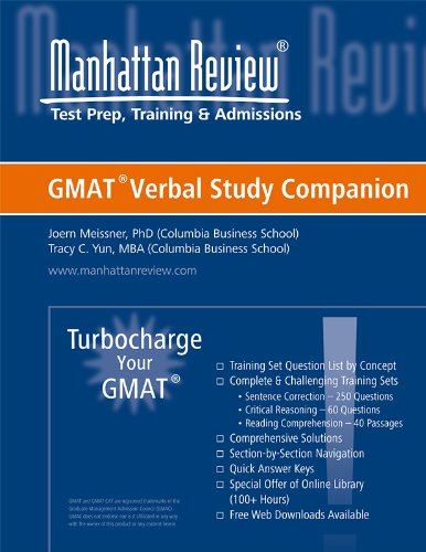 Manhattan Elite Prep Turbocharge Your GMAT: Verbal Study Companion
