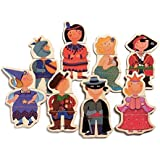 Djeco / Wooden Magnet Play Set, Dressed-Up Children