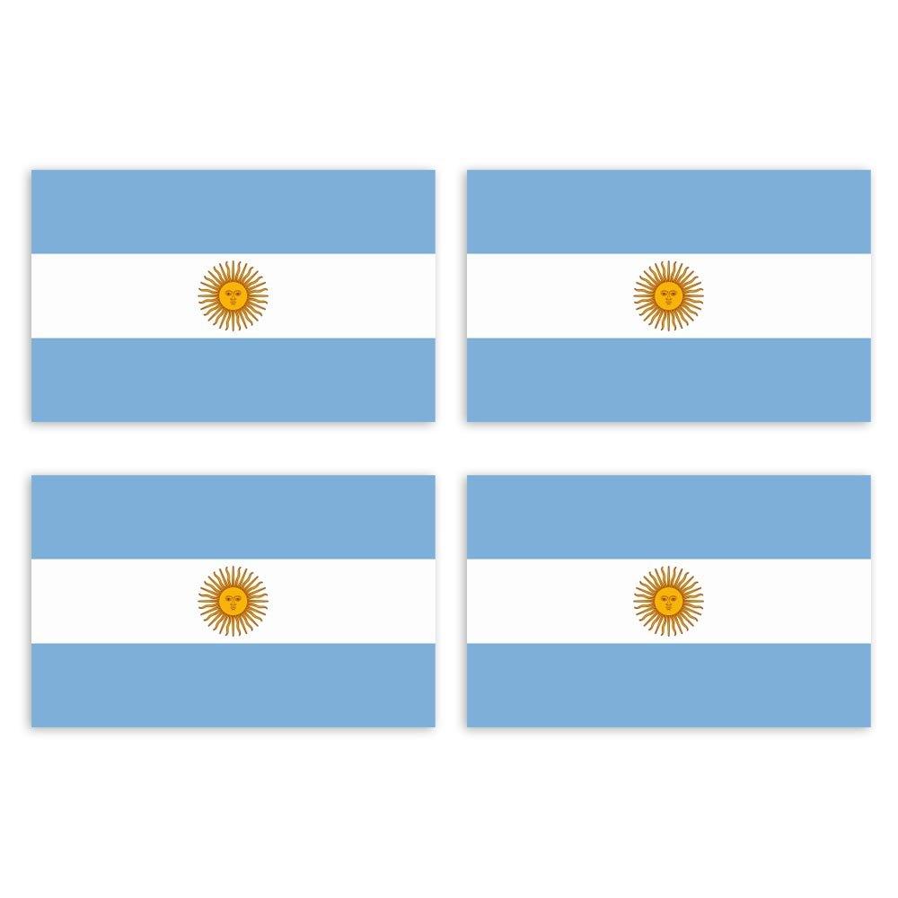 KIWISTAR Aufkleber 4,5 x 2,8 cm Argentinien Land Staat Autoaufkleber Flagge L/änder Wappen Fahne Sticker Kennzeichen