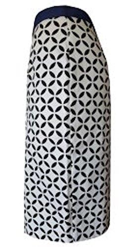 Bleistiftrock mit raffiniertem schwarz-weißen graphischem Muster - Studio IKO Schwarz-Weiß sv6pTvs