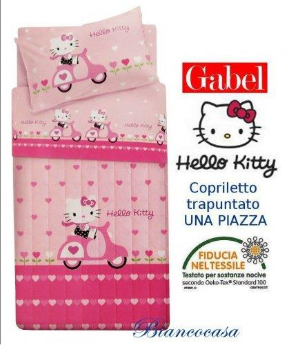 Copriletto Hello Kitty Gabel.Gabel Hello Kitty Copriletto Trapuntato Una Piazza Hello Kitty