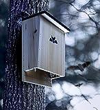Bat House & Bat Attractant Spray - Premium Quality Bat Shelter and Nesting Box - Hand Crafted Bat Home for a Dozen Bats - Control Pests Naturally