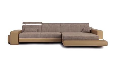 Sofa Couch Leder Wohnlandschaft Stoff Modern Ecksofa Eckcouch