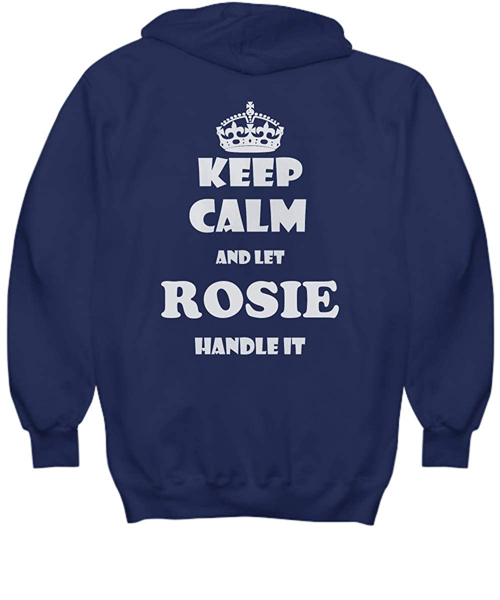 2 Sides Keep Calm and LET Rosie Handle IT with Default Size 2XL White