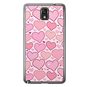 Loud Universe Samsung Galaxy Note 3 Love Valentine Printing Files A Valentine 175 Printed Transparent Edge Case - White/Pink