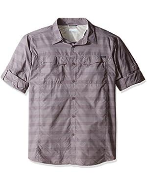 Men's Big-Tall Silver Ridge Plaid Long Sleeve Shirt, Purple Sage Stripe, 2XT