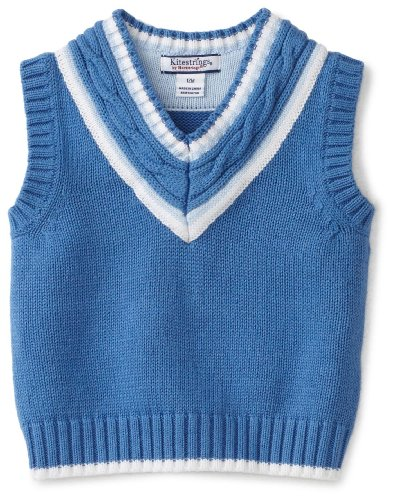 Kitestrings Baby Boys' Vest Sweater With Cable Knit Detail