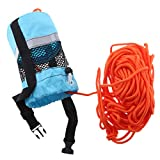 Flameer Blue 102ft Safety Water Reflective Rescue Throw Bag Floating Rope Line Kit
