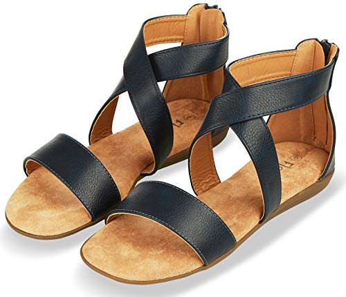 Buy strappy sandals back zipper