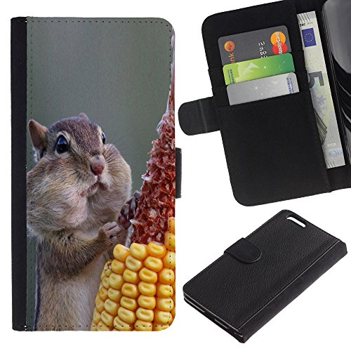 EuroCase - Apple Iphone 6 PLUS 5.5 - Funny Hungry Squirrel - Cuir PU Coverture Shell Armure Coque Coq Cas Etui Housse Case Cover