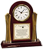 Congratulation Graduation Personalized Clock Gift from Parents to Daughter or Son Poem Wood Cherry Clock with Gold Accents Law School Graduates, Medical, Dental