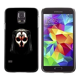 Qstar Arte & diseño plástico duro Fundas Cover Cubre Hard Case Cover para SAMSUNG Galaxy S5 V / i9600 / SM-G900F / SM-G900M / SM-G900A / SM-G900T / SM-G900W8 ( Skull Mask Face Anonymous Art Alien Human)