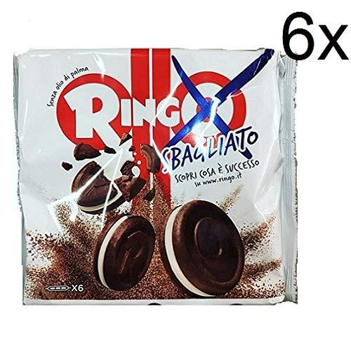 6X Pavesi Biscuits Ringo Sbagliato Vanilla Cookies Double Chocolate 165g 6 Snack