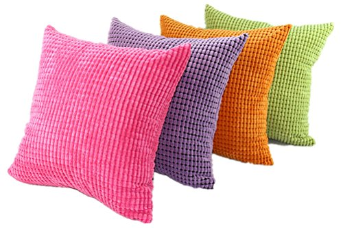 Multi-size Candy Color Corduroy Throw Pillow Cover Sham Case LivebyCare Cushion Covers Pattern ...
