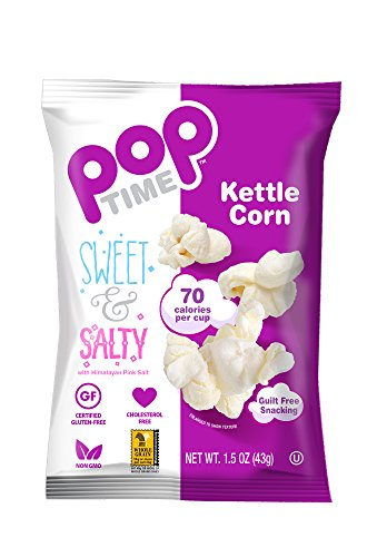 POP Time Kettle Corn,- Sweet & Salty -,1.5 OZ (Pack of - Kettle Sweet