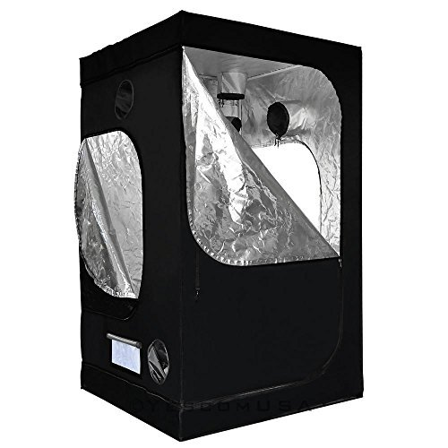 LAGarden 4x4x6.5Ft 100% Reflective Diamond Mylar Hydroponics Indoor Grow Tent Non Toxic Planting Room 48x48x78''