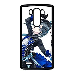 Black Butler LG G3 Cell Phone Case Black TPU Phone Case SV_132473