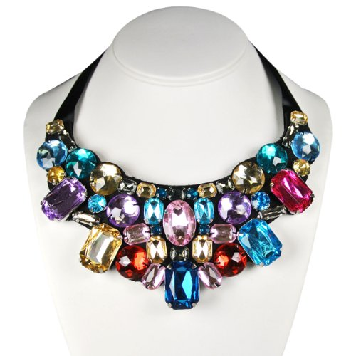 Wrapables Jewel Gem Statement Necklace